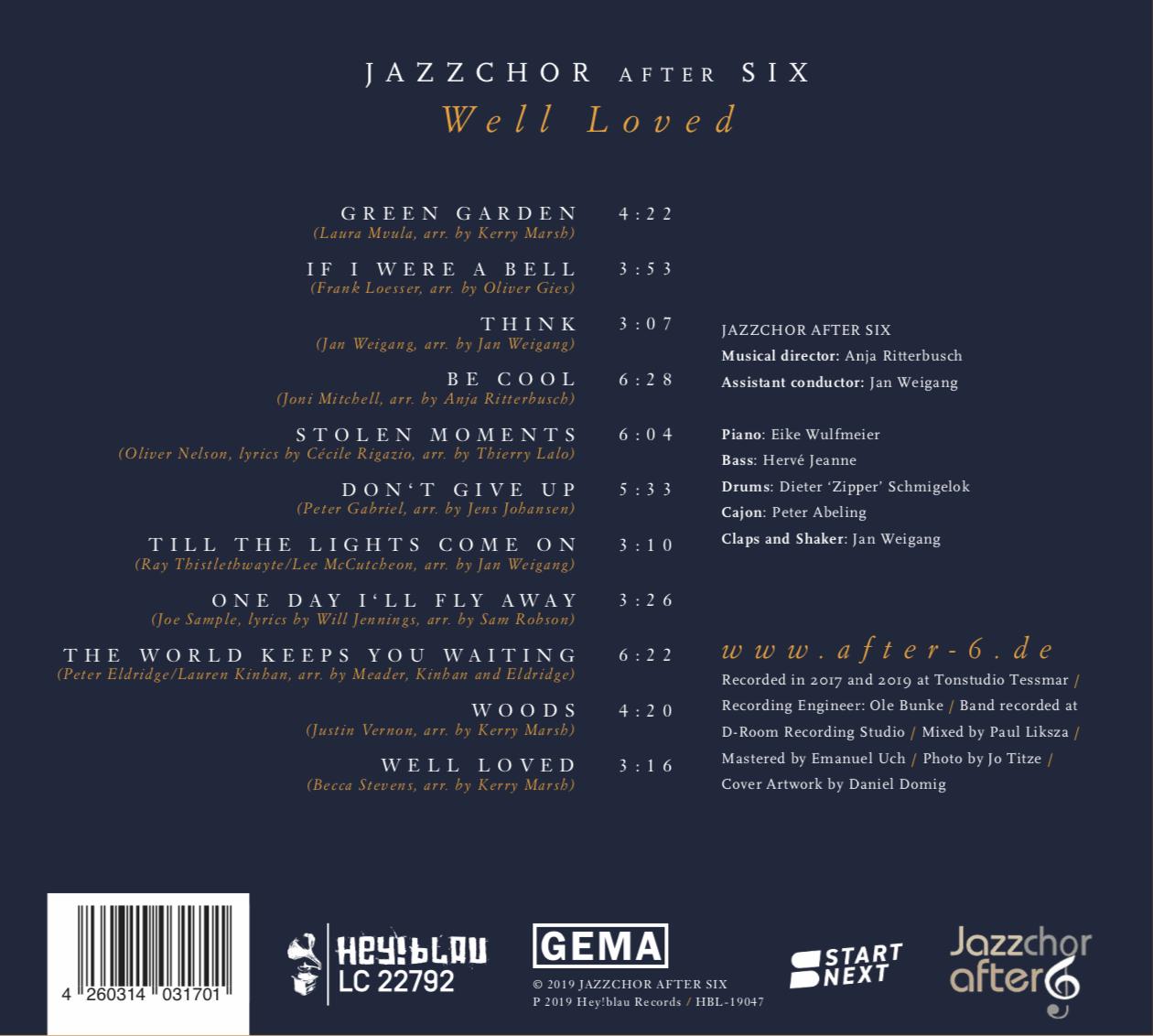 "CD ""Well Loved"" Rückseite"
