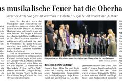 Hannoversche Allgemeine Zeitung zum Konzert in Lehrte am 21.09.2019